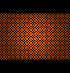 perforated black and orange metallic background vector image