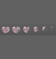pink bubble burst sprites vector image