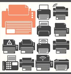 Printer icon sit vector image