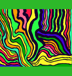 rainbow color psychedelic abstract waves pattern vector image