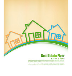 real estate agent flyer vector image