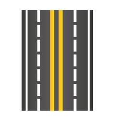 road traffic signal icon vector image