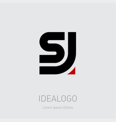 S and j initial logo js initial monogram logotype vector