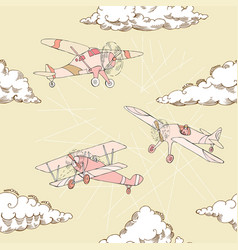 Seaml colors airplanes-09 vector