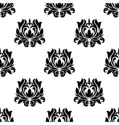 Seamless pattern of floral arabesque motifs vector