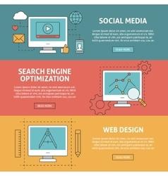 Seo social media and graphic design concept vector image