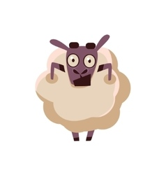Sheep Being Shocked vector image