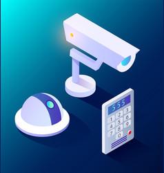 smart home camera and intercom equipment vector image