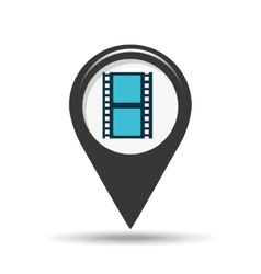 symbol cinema icon film strip movie design vector image