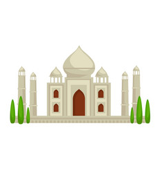 taj mahal palace building indian symbol vector image