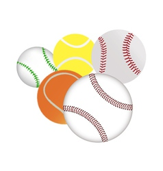 Tennis and baseballs vector