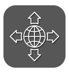The navigation icon Location symbol Flat vector image