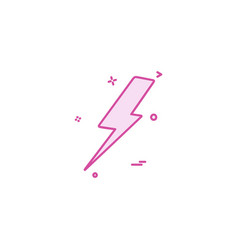 thunder icon design vector image