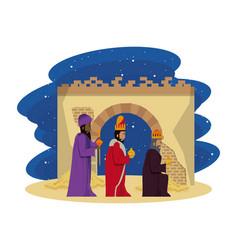 Traditional christian christmas vector