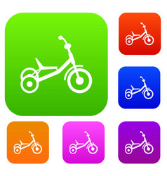 Tricycle set collection vector