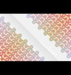 vertical abstract ribbons design vector image