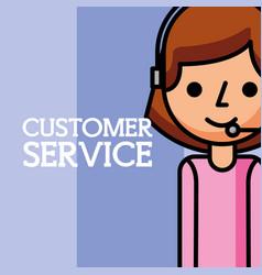 Woman dispatcher employee customer service vector