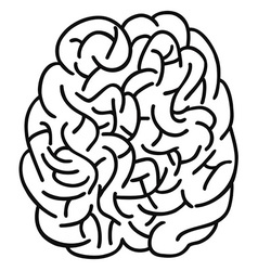 doodle human brain Outline design vector image vector image