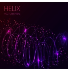 Glowing spiral on dark background Blue and pink vector image