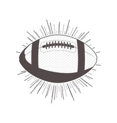 gray scale silhouette with football ball vector image vector image
