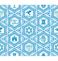 israel design seamless vector image vector image