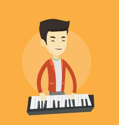 man playing piano vector image vector image