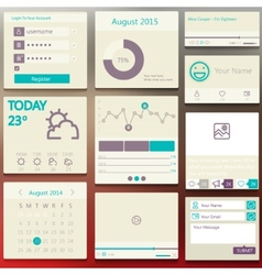 Set elements used for user interface light vector image vector image