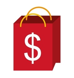 shopping bag isolated icon design vector image