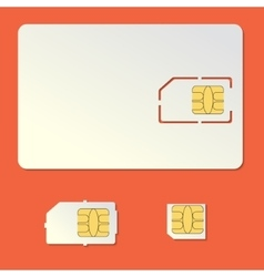 Sim card empty set Cell phone chip vector image