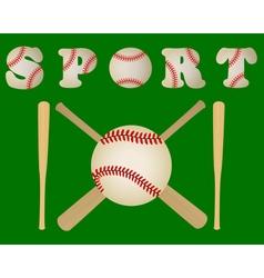 baseball bats and a ball vector image vector image