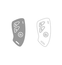 car key and of the alarm system grey set icon vector image vector image