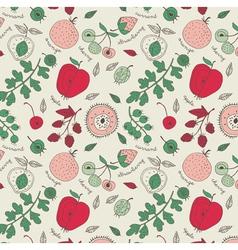 fruit wallpaper background vector image vector image
