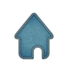 Home icon Realistic denim eps10 vector image
