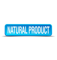 natural product blue 3d realistic square isolated vector image