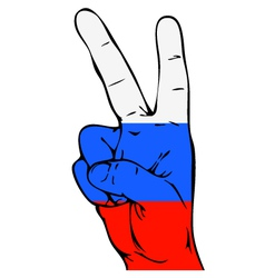Peace Sign of the Russian flag vector image vector image