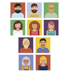 people social icons collection vector image vector image