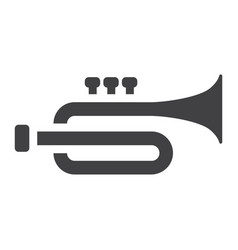 trumpet glyph icon music and instrument vector image