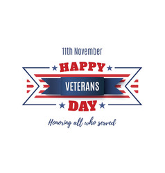 veterans day abstract background vector image vector image