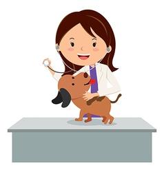 Cartoon veterinarian vector image vector image