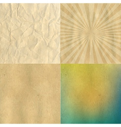 Crushed And Cardboard Vintage Papers Set vector image vector image