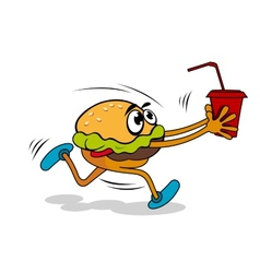 Hamburger with juice vector image vector image