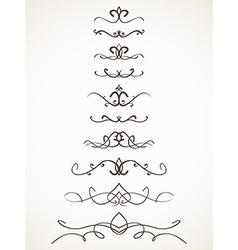 Ornamental calligraphic line vector image vector image