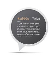3D bubble talk frame Design element EPS10 vector image vector image