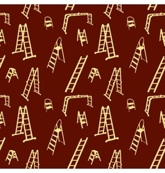 Seamless pattern of ladder silhouette vector image vector image