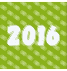 2016 Text on New Years background font vector image