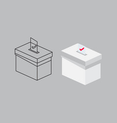 2020 presidential election vote box design vector