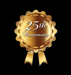 25th Anniversary ribbon vector image vector image