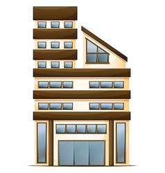 A multi-story building vector image