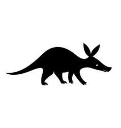 aardvark black silhouette vector image