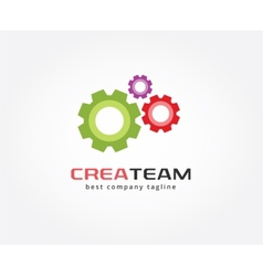 Abstract gear logo icon concept Logotype template vector